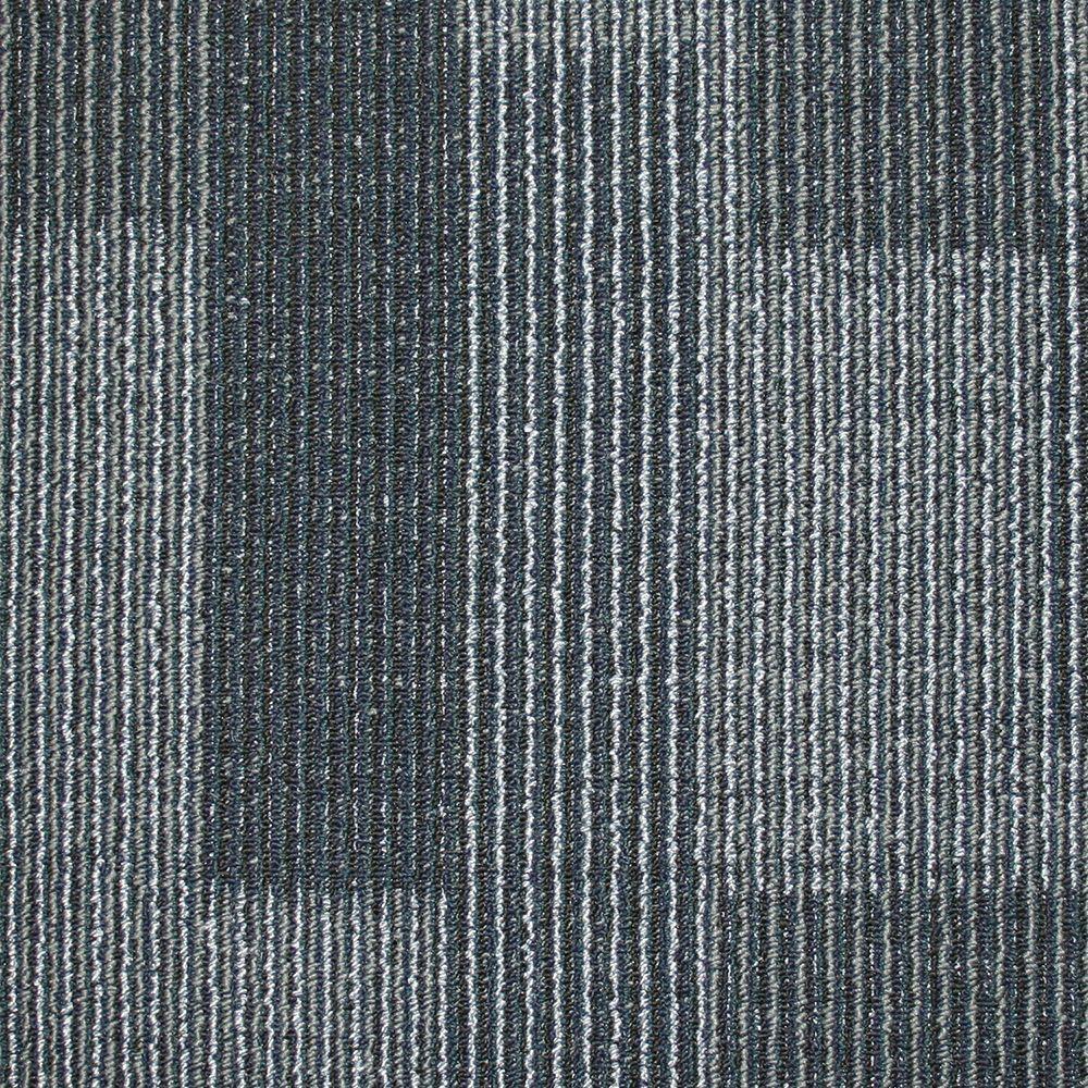 Trafficmaster Rockefeller Midnight Blue Loop 19 7 In X 19 7 In Carpet Tile 20 Tiles Case 707007 The Home Depot Carpet Tiles Commercial Carpet Tiles Ocean Texture