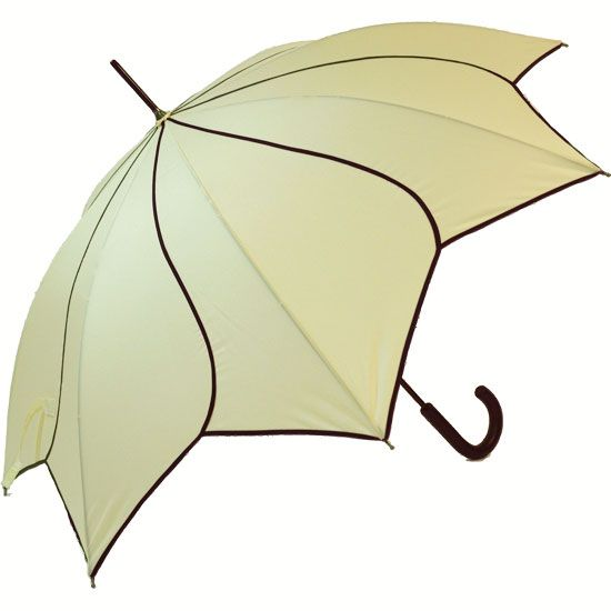 A Petal Swirl Umbrella in cream