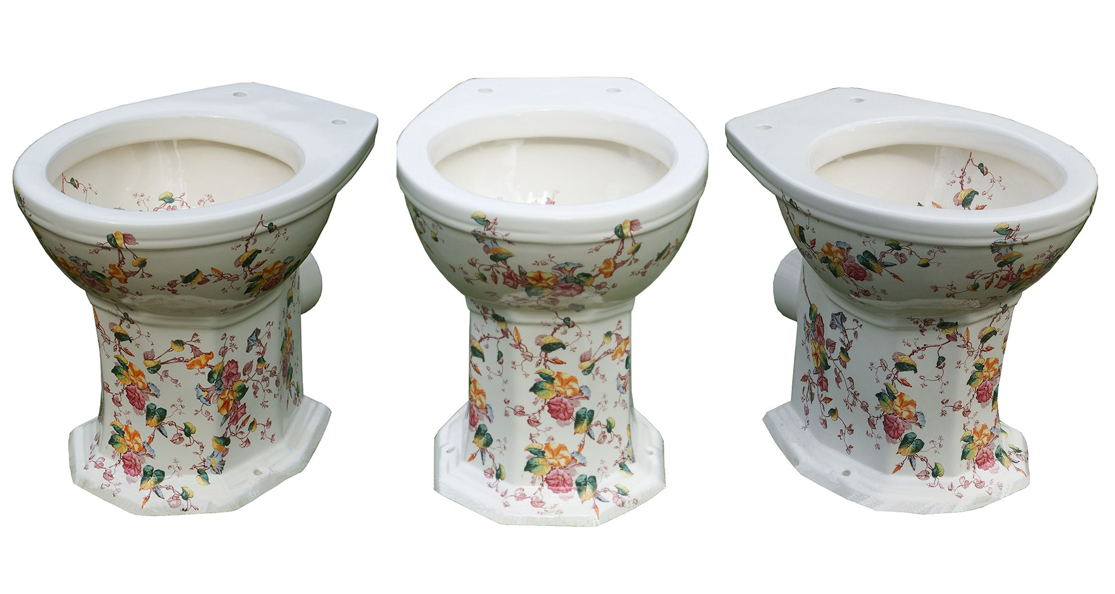 The Remarkable Toilet Company Floral Patterned Victorian Toilet ...
