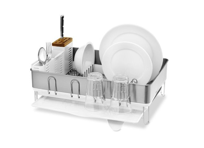 Simplehuman Steel Frame Dish Rack With Images Dish Racks Dish