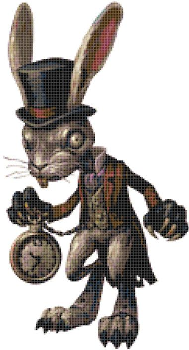 Cross Stitch Pattern for the Rabbit Alice by TheStitchingGirl