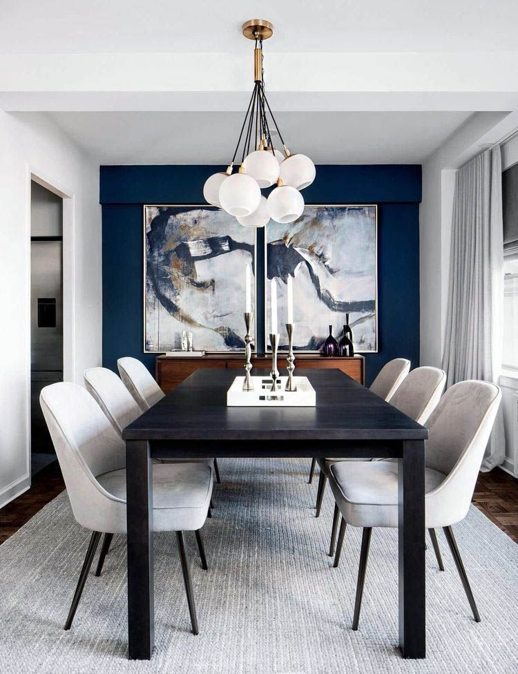 Remarkable Dining Room Chairs Navy For Your Home Small Dining Room Decor Black And White Dining Room Dining Room