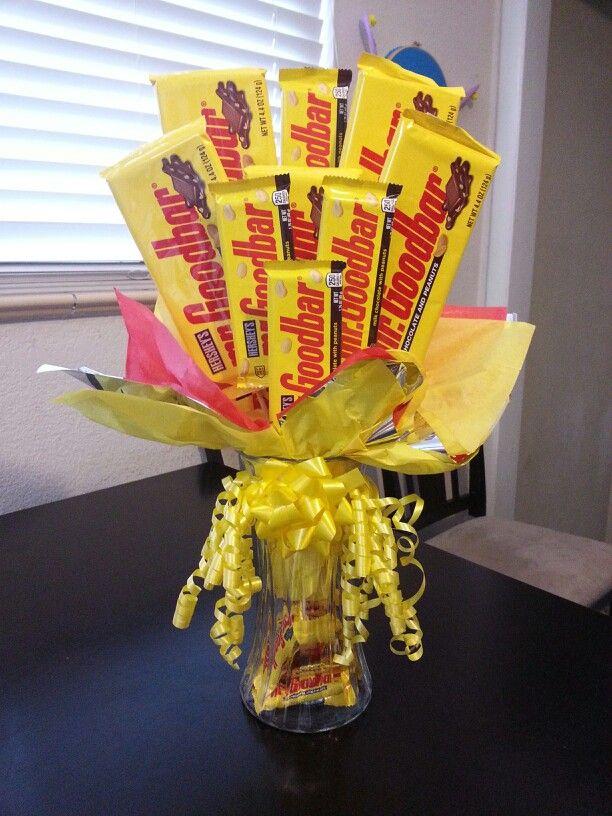 Mr Goodbar Bouquet Baskets Pinterest Candy Bouquet Candy Arrangements And Gift