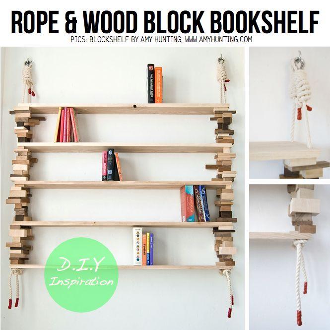 Amazing Hanging Bookshelves