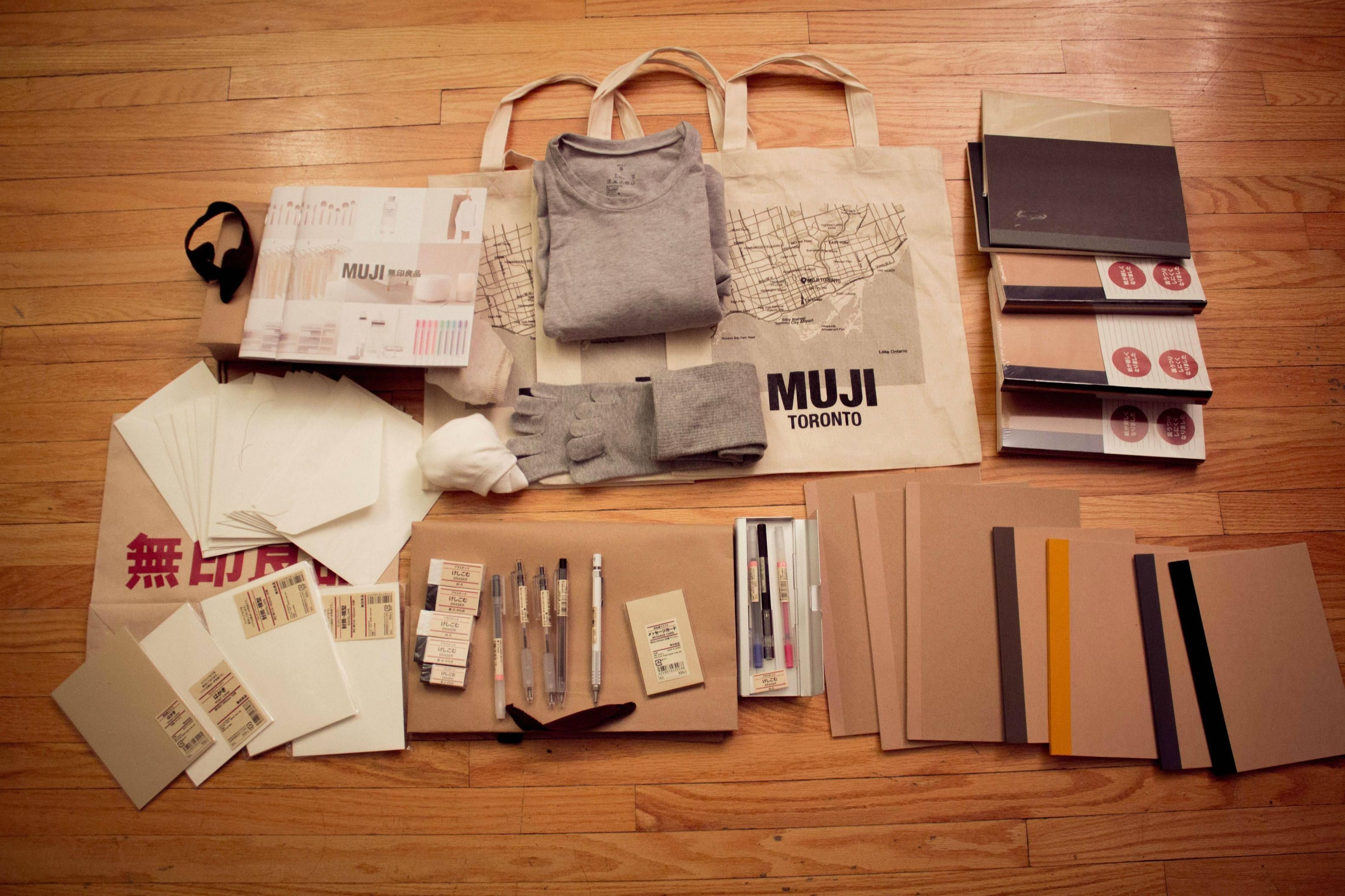 MUJI stationery (especially black pens and plain paper ...