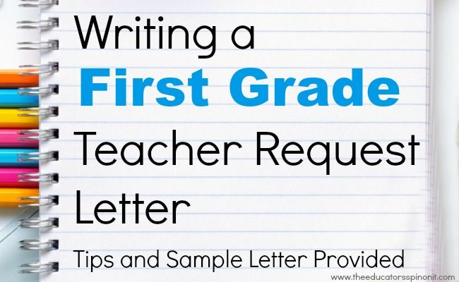 Write A First Grade Teacher Request Letter  Teacher Learning And