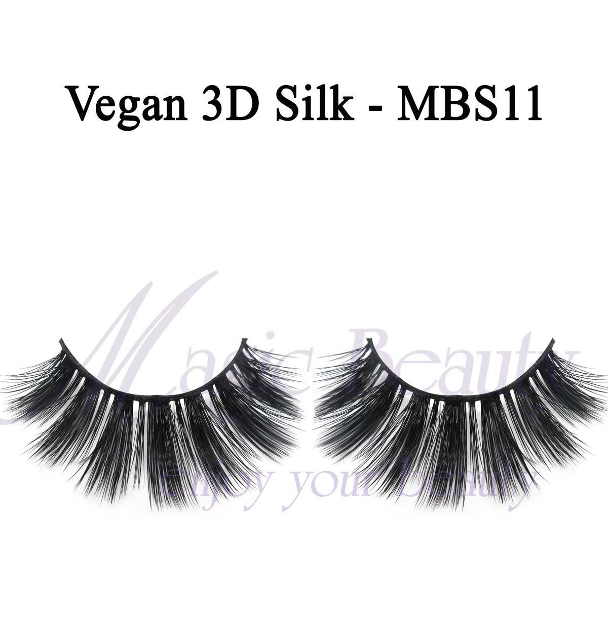 Vegan 3D Silk Lashes-MBS11 Made of Korean PBT Fiber and