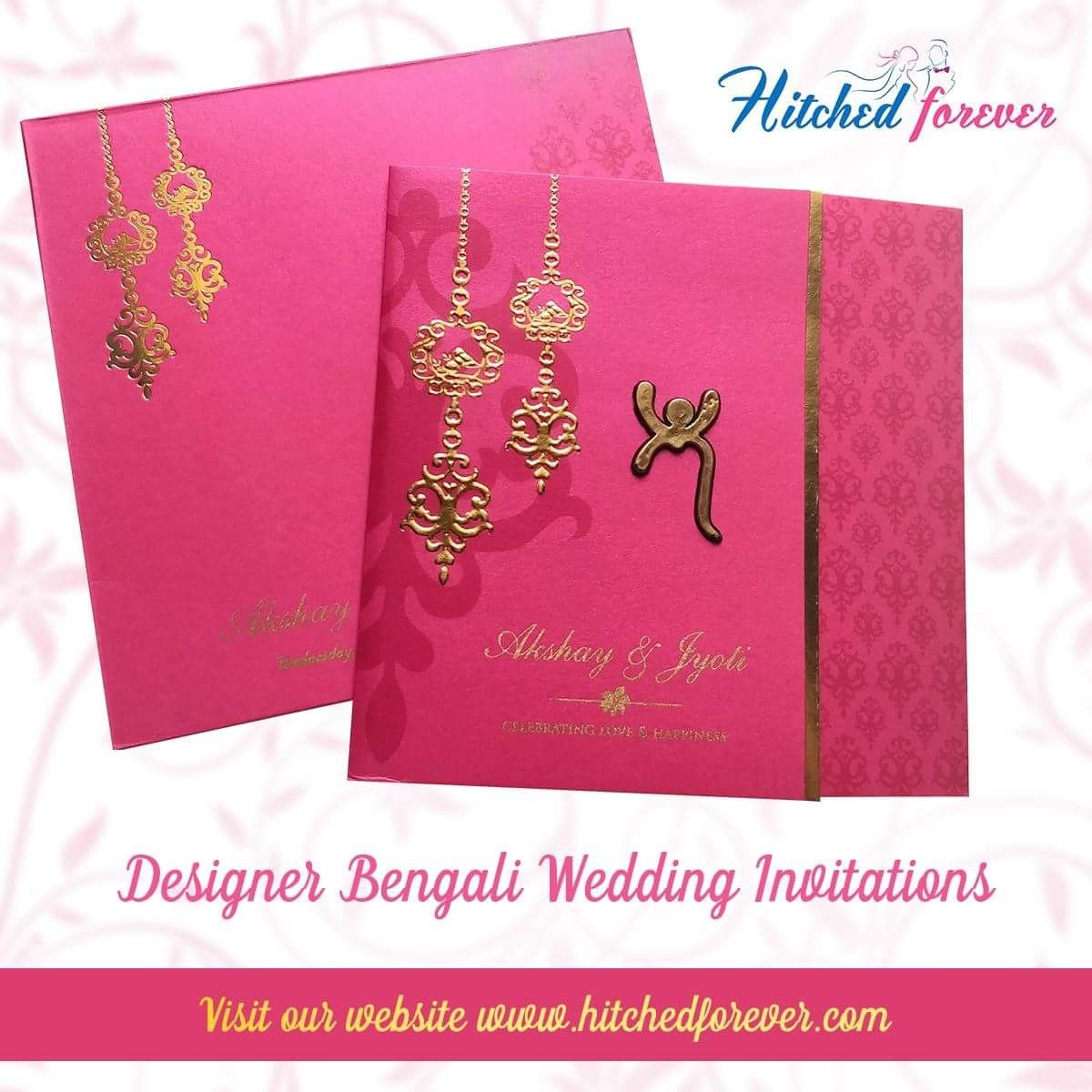 bengali wedding invitations are essentially in shades of