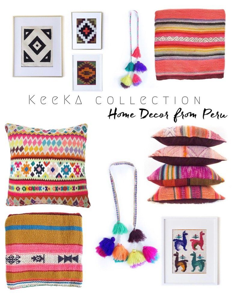Vibrant Peruvian Home Decor from Keeka Collection
