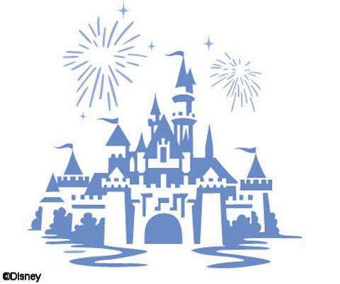 Disney castle sleeping beauty silhouette. Diy