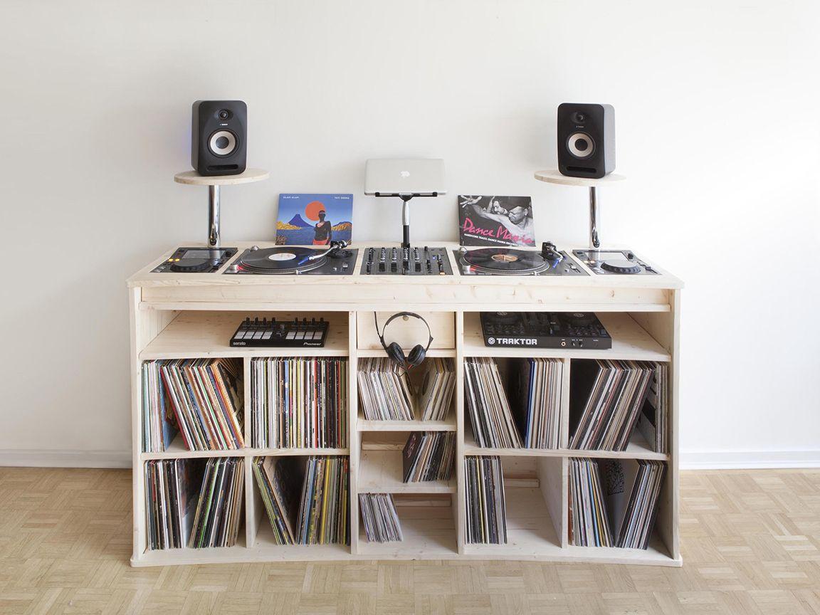 Portee Le Meuble Pour Vinyles De Estis Blog Esprit Design Meuble Pour Platine Vinyle Meuble Vinyle Meuble Dj