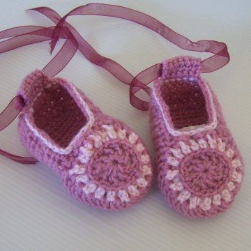 Free+Crochet+Baby+Shoes+Patterns | ... of the Moment Baby Shoes ...