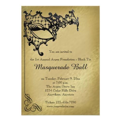 Filigree Masquerade Mardi Gras Ball Invitation Masquerade party
