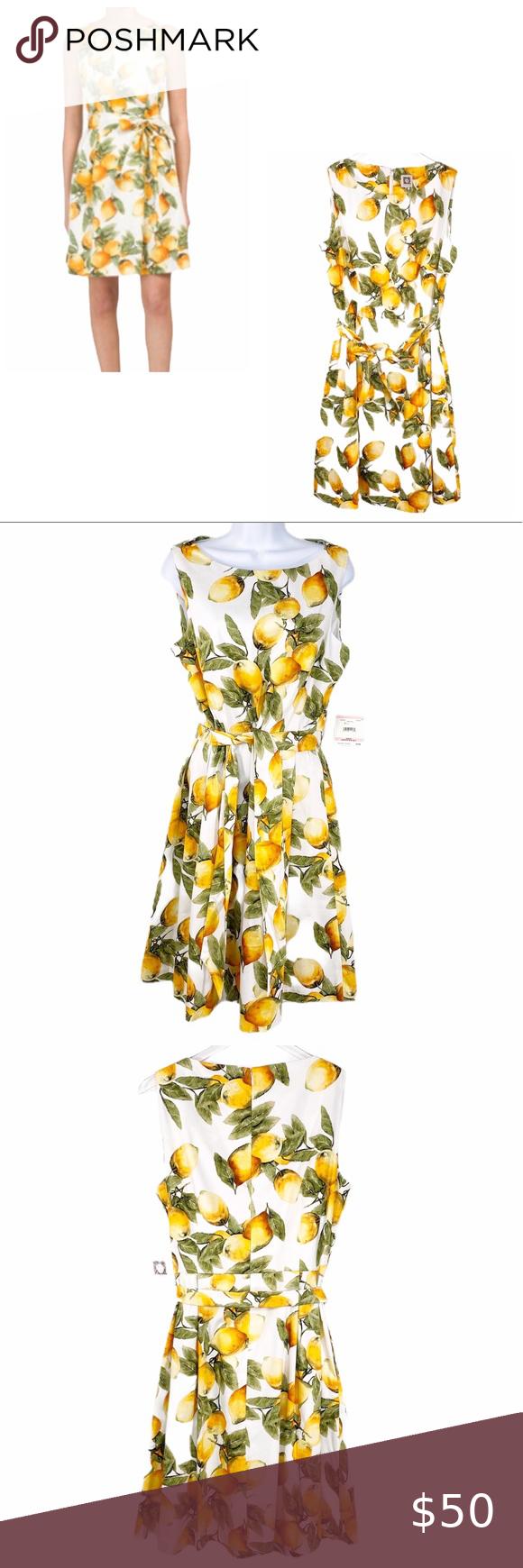 Anne Klein White Yellow Lemon Sleeveless Dress Nwt In 2021 Wrap Dress Pattern Combo Dress Color Block Shift Dress [ 1740 x 580 Pixel ]