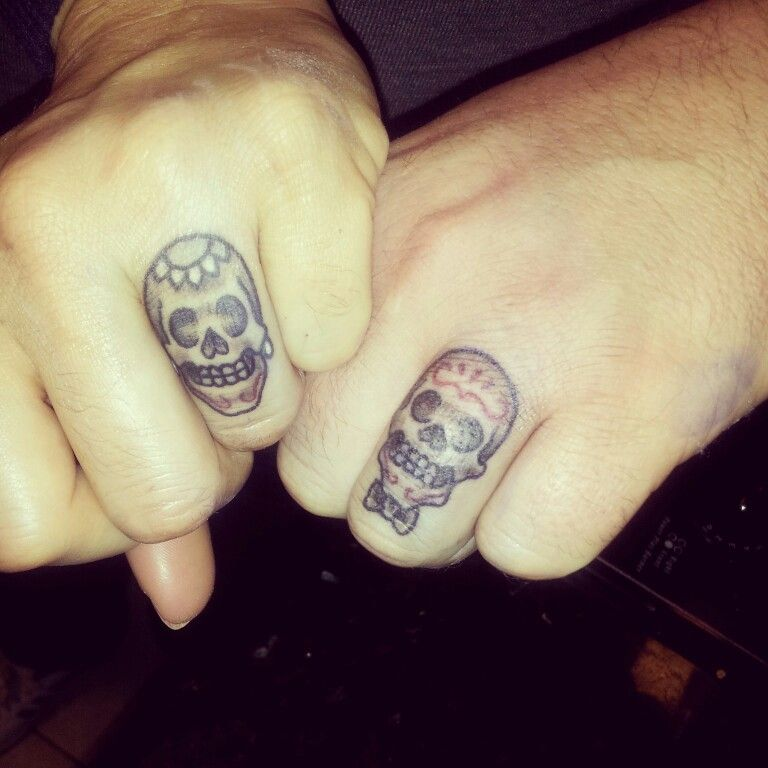 c7611d2ce Tattoo Skull wedding rings | Candy loves | Skull wedding ring, Skull ...