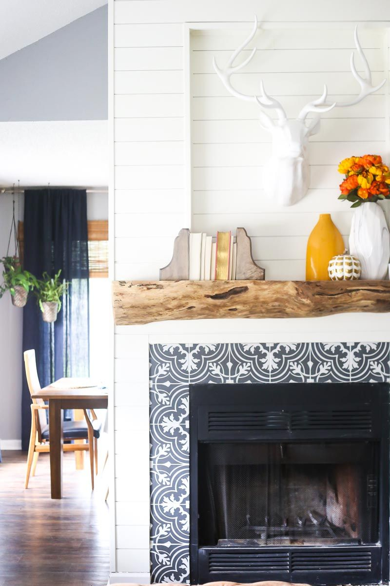 an easy tutorial for how to build a gorgeous diy wood mantel
