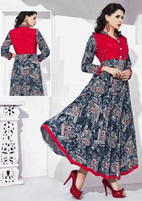 b924f0bf858d Womens Fashion · Sparkle Reyon Kurtis (12 pc catalog) Indian Designer Wear