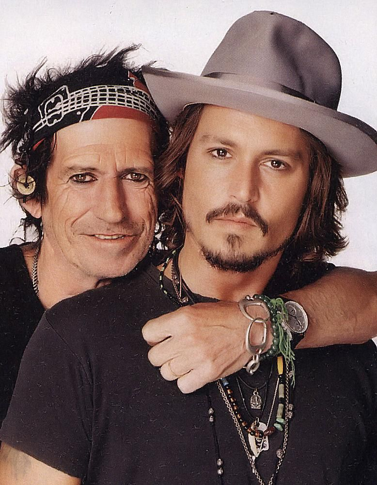 Johnny Depp & Keith Richards by Matthew Rolston, Rolling Stones magazine, 2007