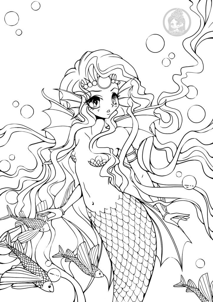 épinglé Sur Coloring Mermaids Aquatic