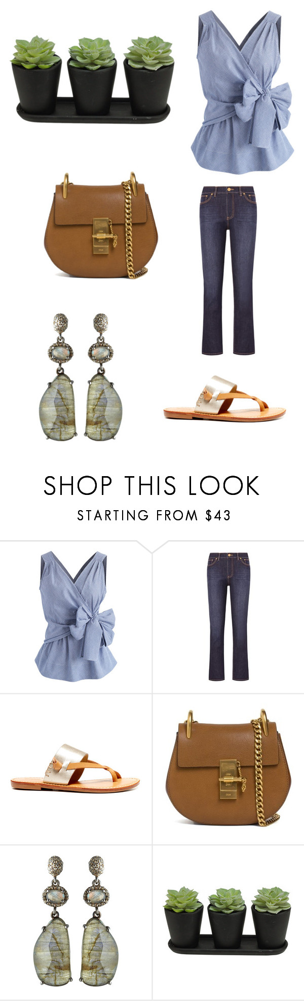 """Set 2...March 8th."" by liz957 ❤ liked on Polyvore featuring Chicwish, Tory Burch, Havaianas, Chloé and Bavna"