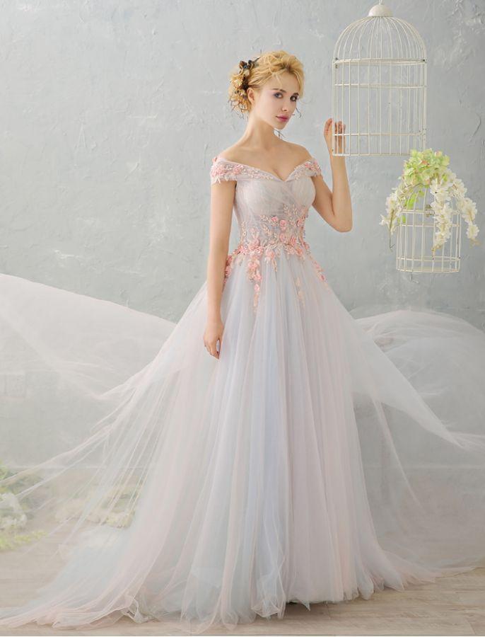 9f3e555adc07 1950s Vintage Style Off Shoulder Floral Retro Unique Wedding Dress ...