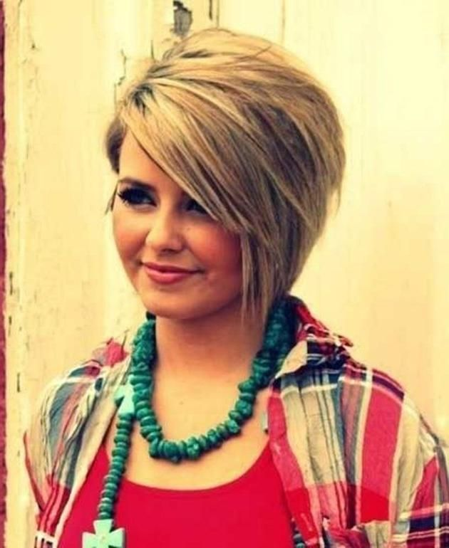 48+ Fat person short hairstyles for round faces with double chin trends