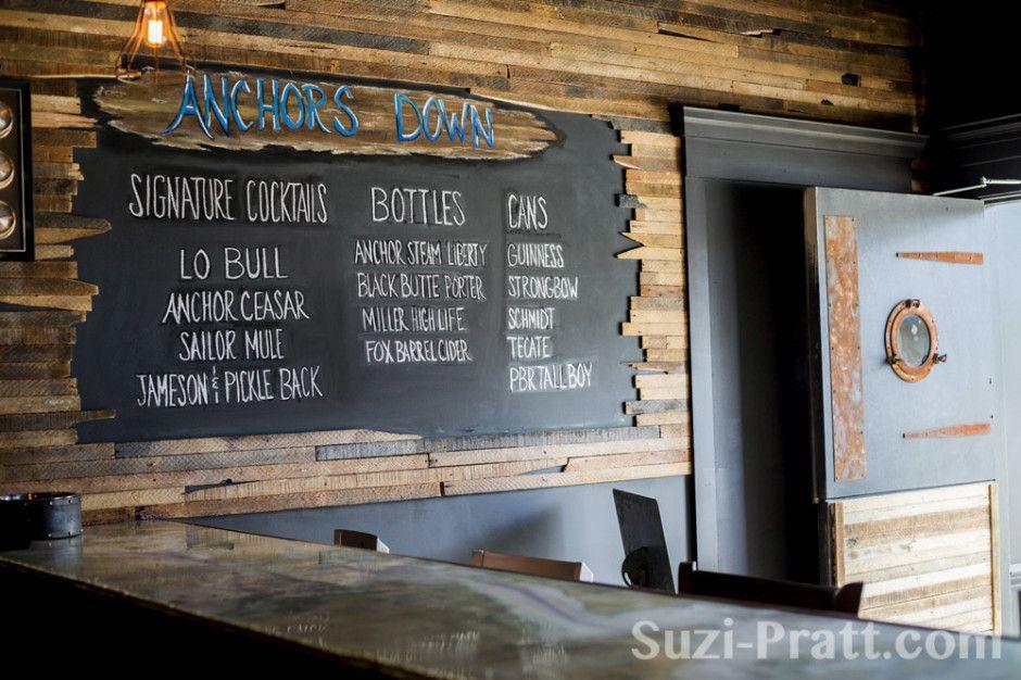 Specials Board Looks Like It Was Hidden Behind The Wood Slats Rustic Restaurant Bar Decor Restaurant Decor