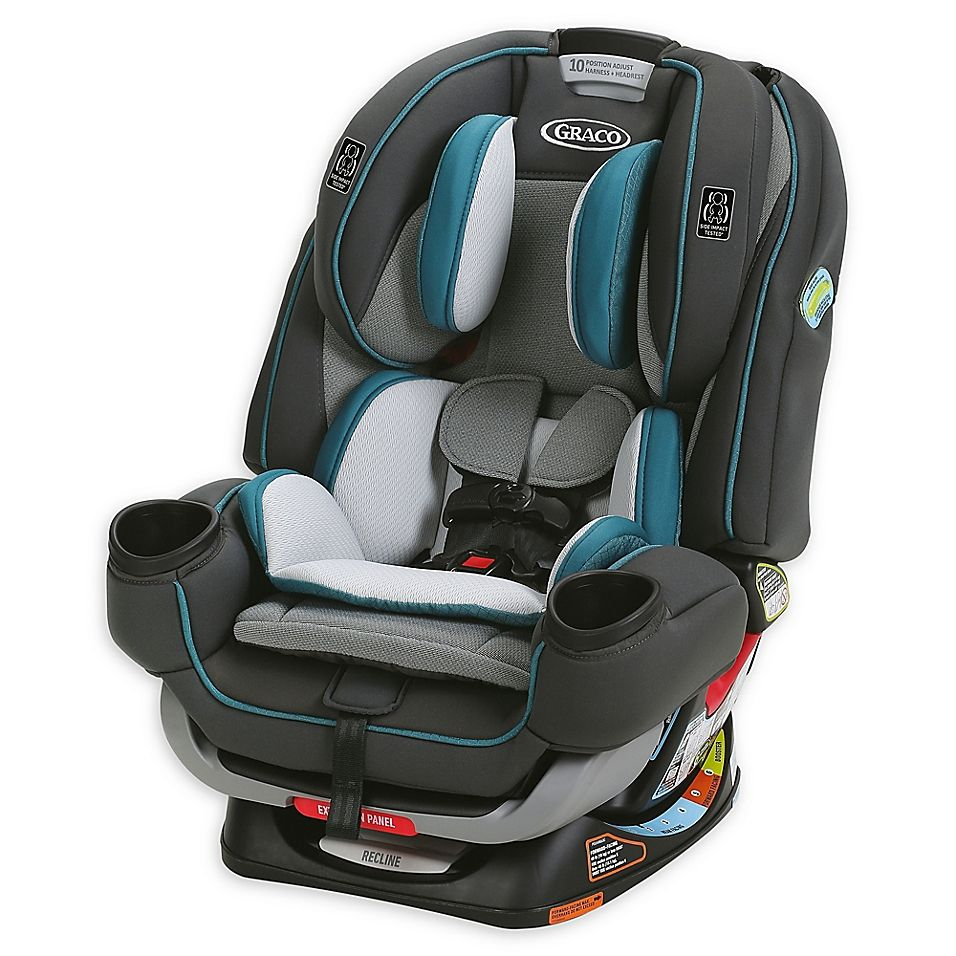 Graco 4Ever Extend2Fit 4-In-1 Convertible Car Seat In Seaton grey