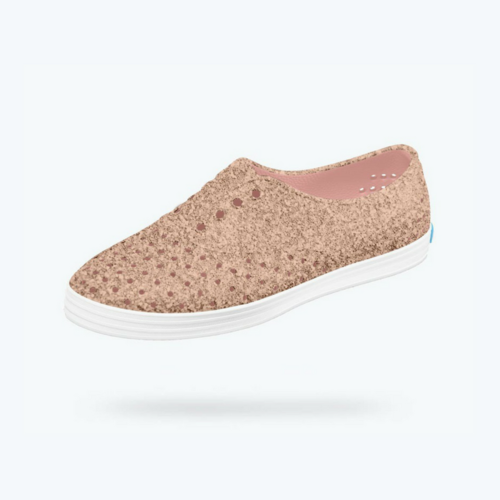 987b84d95 Native shoes vegan sparkle pink sneakers    9 Eco-Conscious Vegan Sneakers  To Up Your Game This Summer on The Good Trade  veganshoes  veganfashion ...