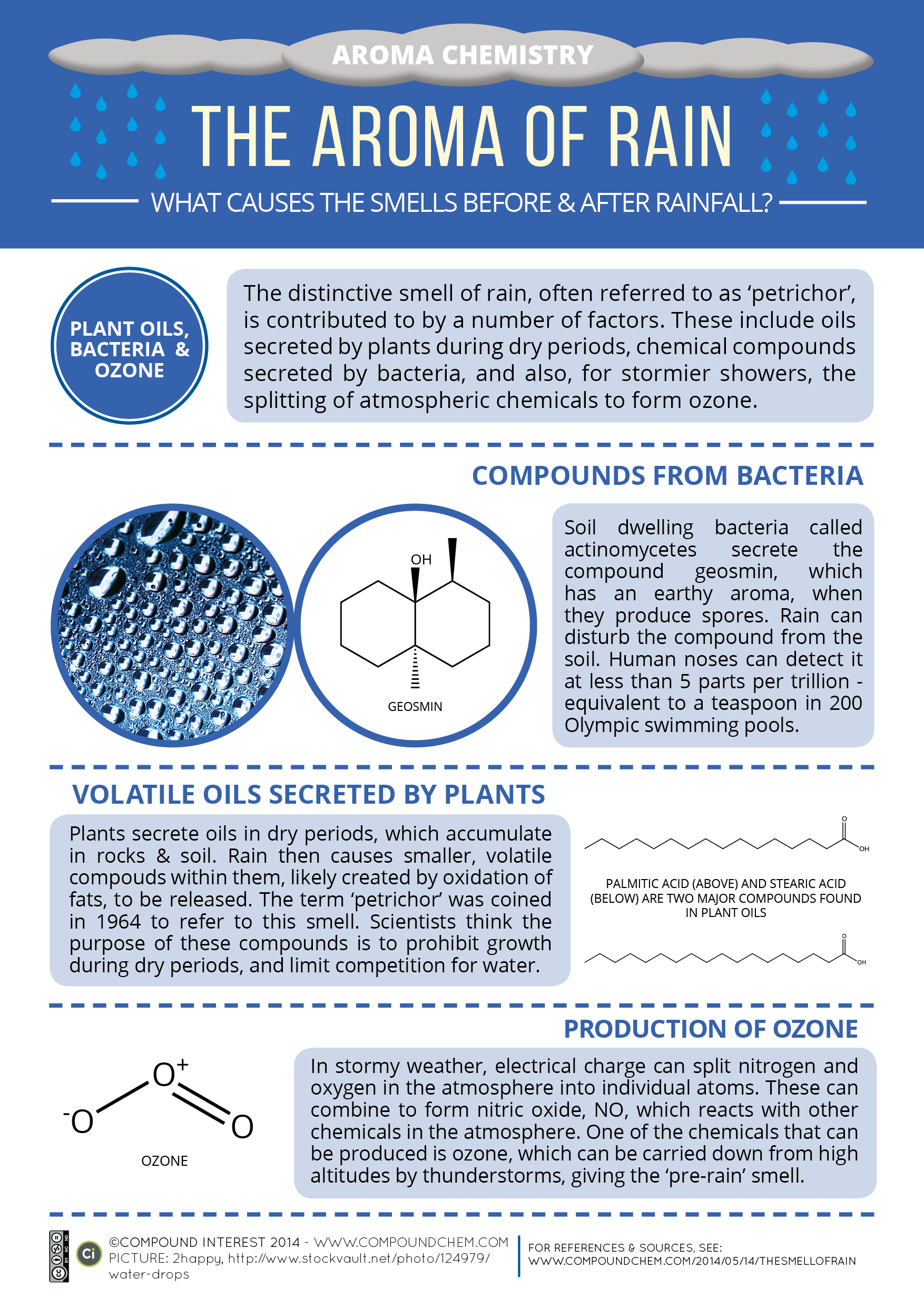 Infographic: The Chemical Compounds Behind The Smell Of Rain