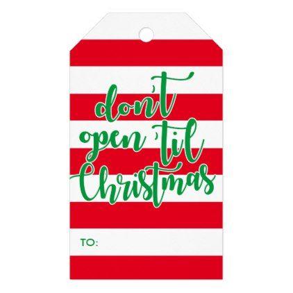 don\u0027t open \u0027til Christmas Gift Tags - craft supplies diy custom