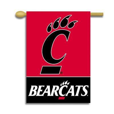 Bsi Products Ncaa 2 Sided Banner Ncaa Team Outdoor Banners Bearcats Cincinnati Bearcats