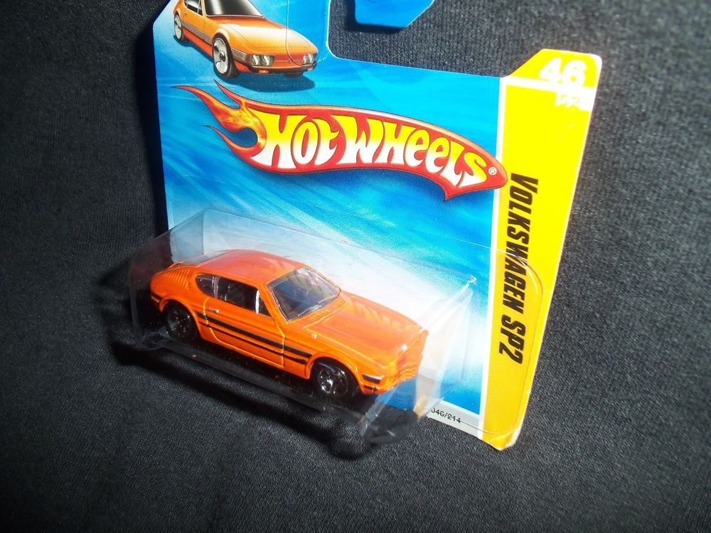 Hot Wheels 2010 Volkswagen SP2 Orange HW Premiere 46/214 Short Card #HotWheels