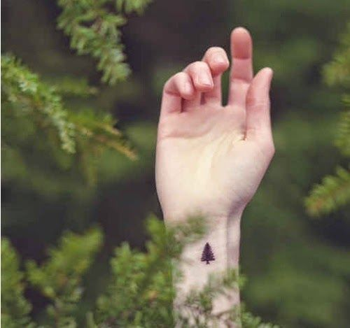 Small Tree tattoo designs on wrist ideas for men and women.