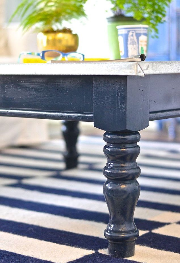 Knock Out Navy Coffee Table Blue Coffee Tables Painted Coffee