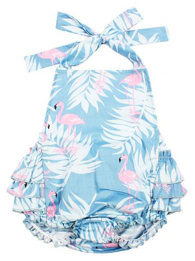 6a1b94346f85 SHOP Our Ruffle Flamingo Romper for Baby   Toddler Girls