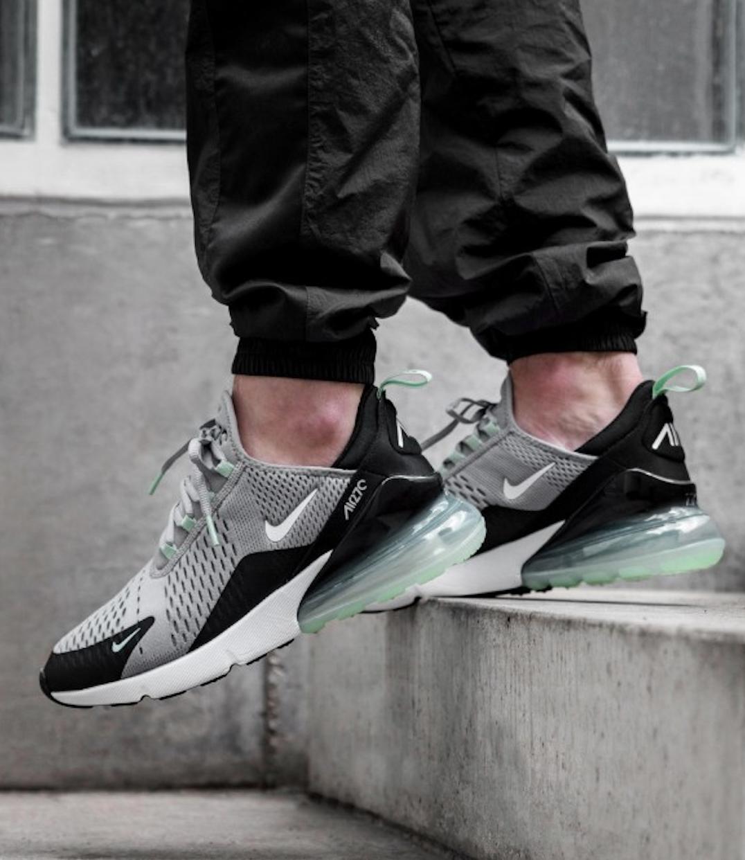 Nike Air Max 270 Grey Green Sneakers in 2020 | Mint