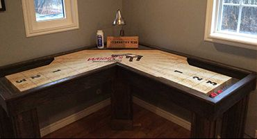Wood Corner Shuffleboard Home Basement Game Small Game