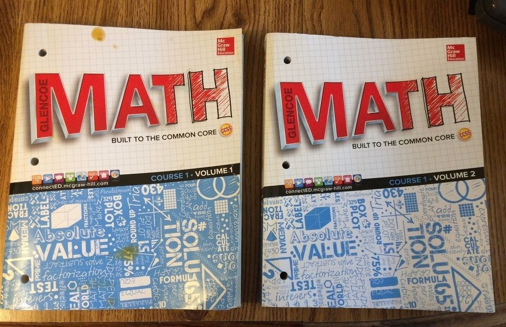 Glencoe Math Built to the Common Core, Course 1  The books do not