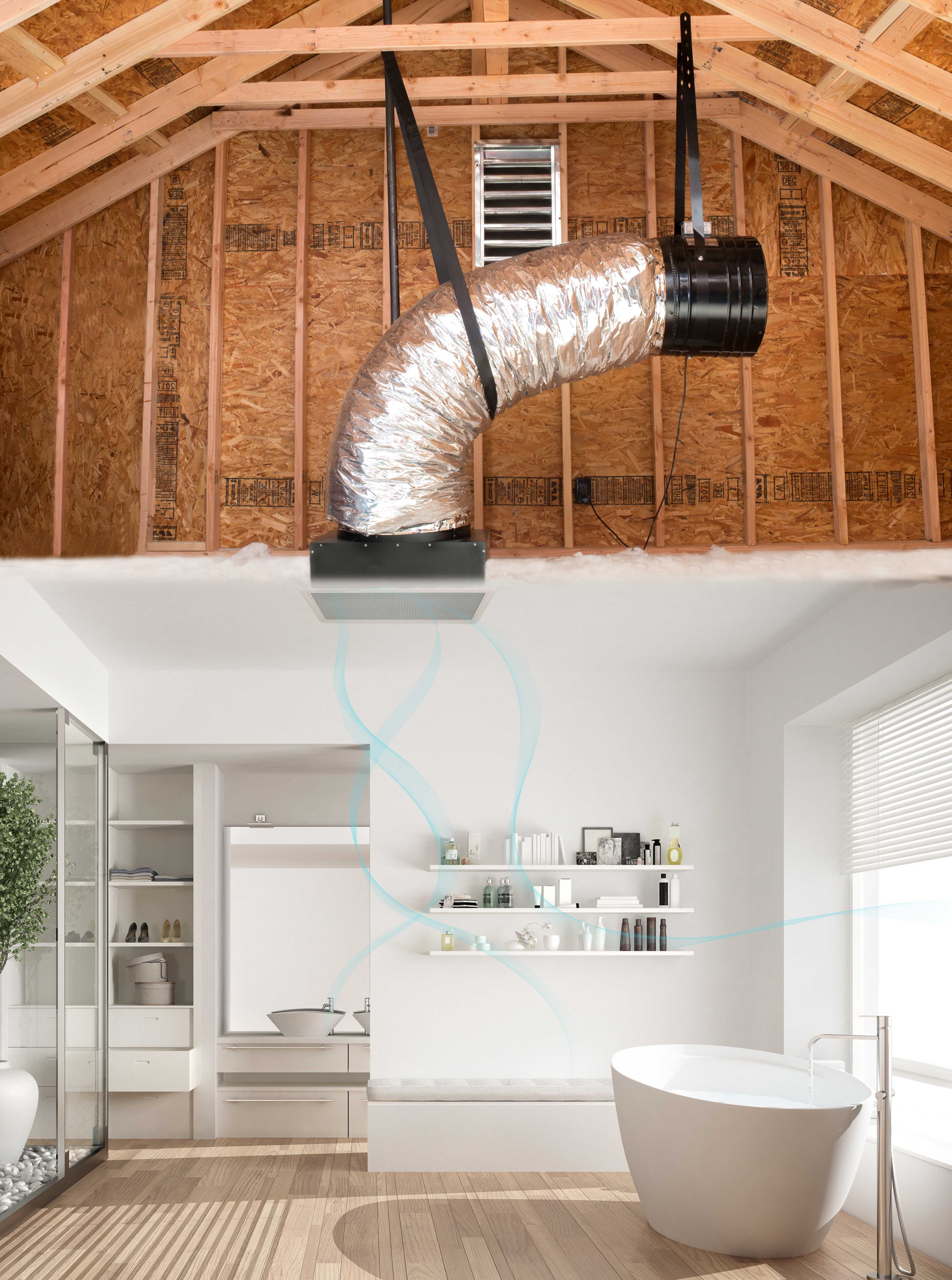 Install a whole house fan, bring the fresh cool air inside