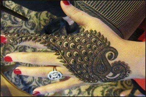Mehndi Henna Designs Peacock : Artistic henna mehndi designs and tattoos for lovers
