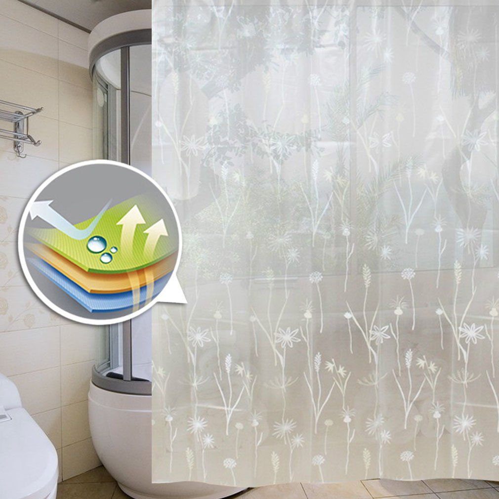 Auralum Shower Curtain 180x180cm Waterproof And Anti Mold Peva