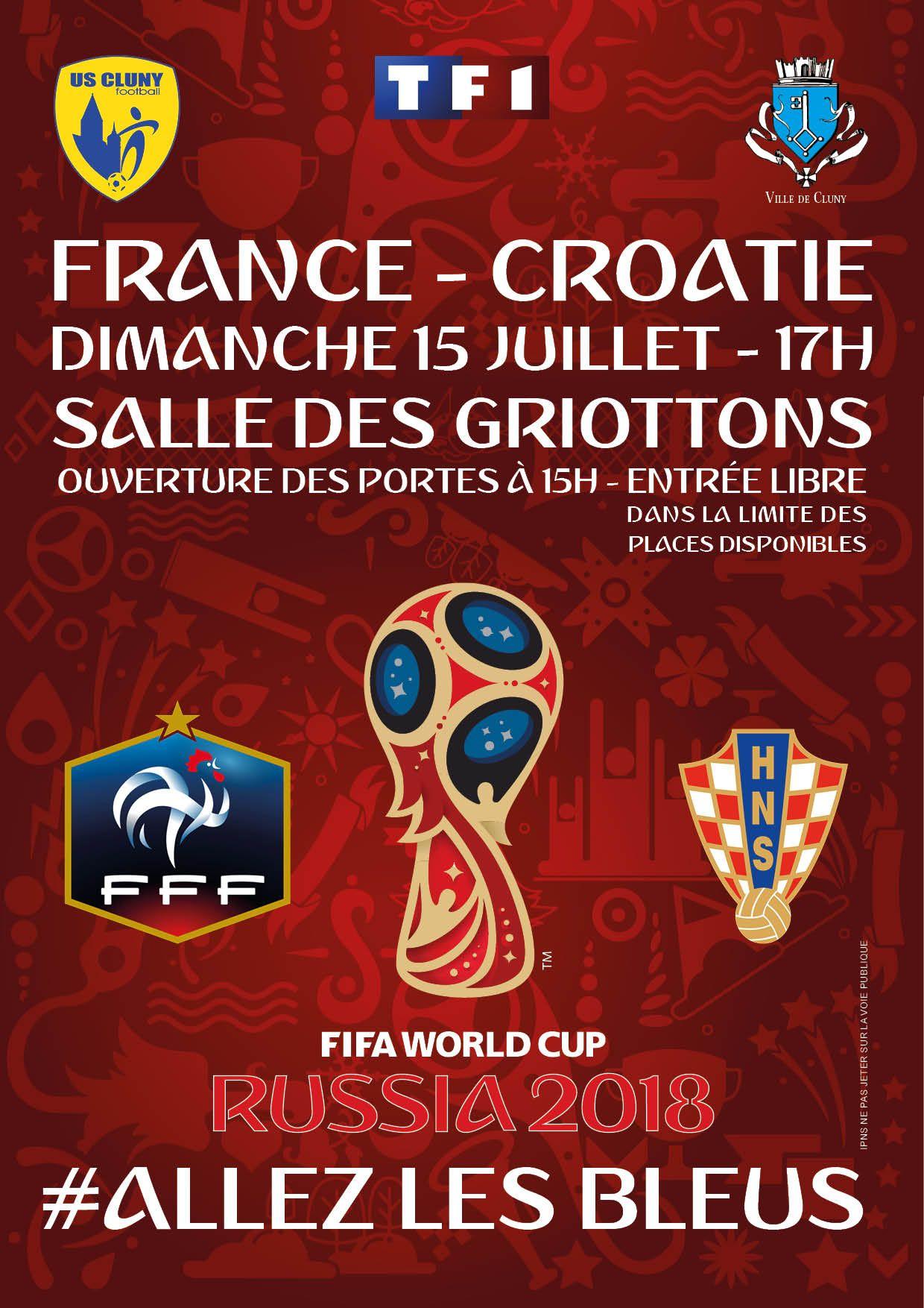 Diffusion sur écran géant de la finale de la Coupe du