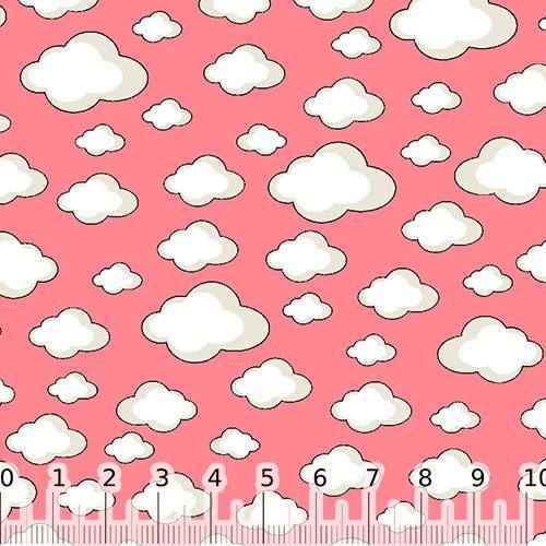 aa23201bc Tecido Tricoline Cadente Nuvens - Rosa Claro | TECIDOS INFANTIS ...
