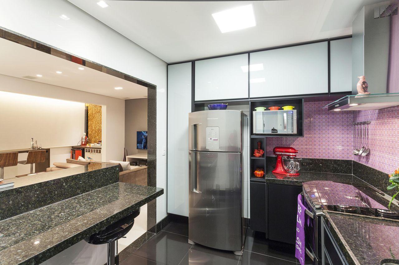 Cozinha Americana Com Bal O De Granito Iris Pinterest Balcao