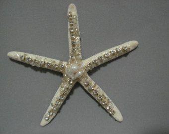 Gift Idea Finger Starfish Natural Starfish Ornament embellished with SeaShells Christmas Ornament Shells Seashells Handmade
