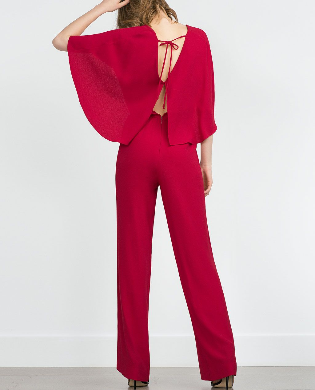 fef2cdd397b CAPE JUMPSUIT WITH V-NECK-Jumpsuits-WOMAN