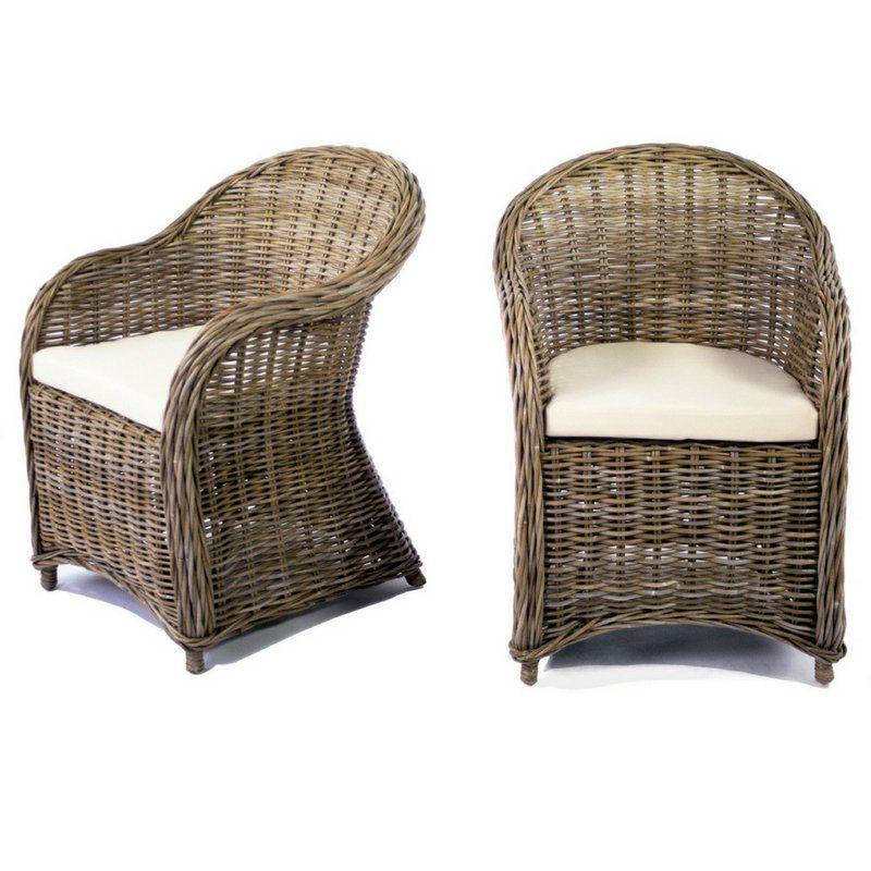 Edmonton garden chair with cushion rattan armchair