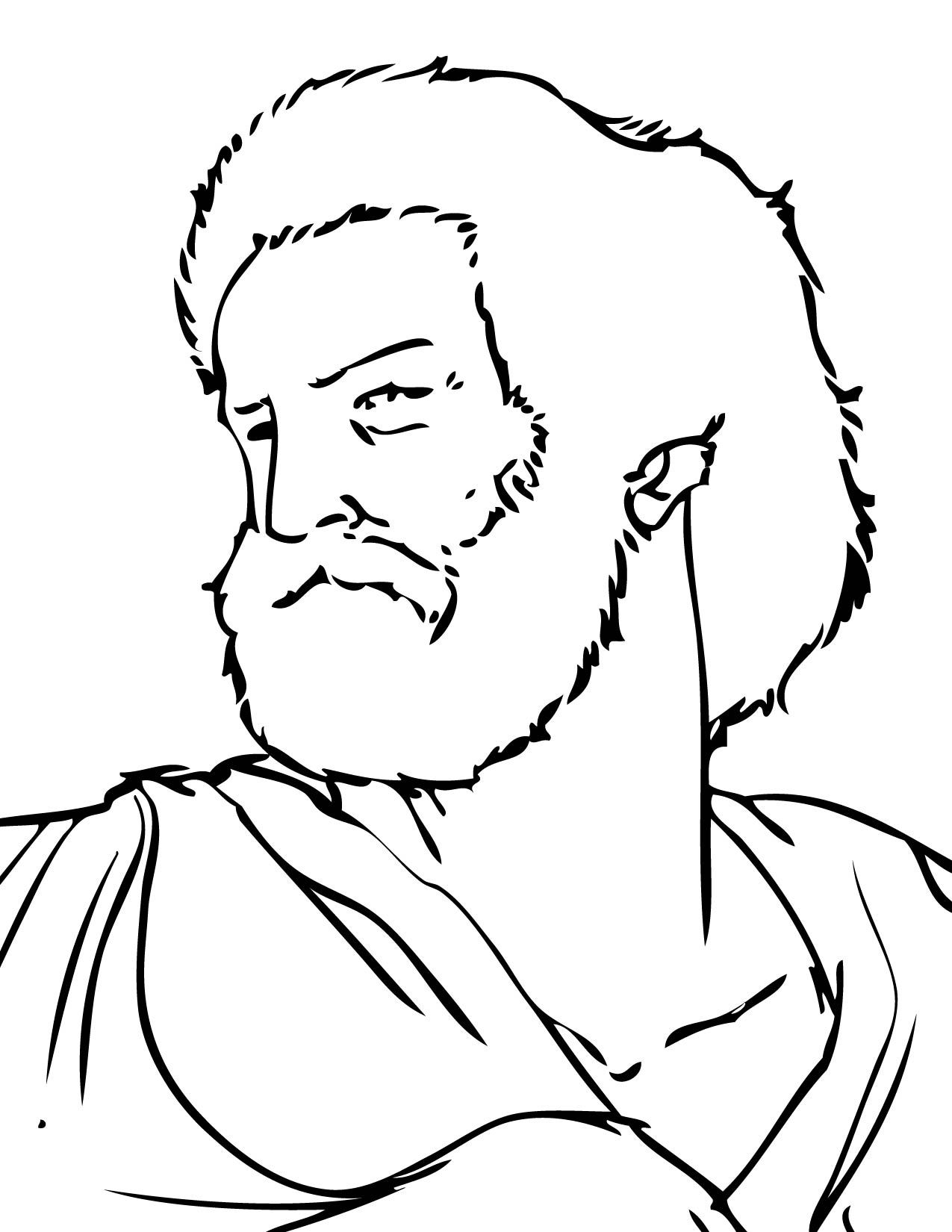 Aristotle Coloring Page Coloring Pages Mystery Of History Color