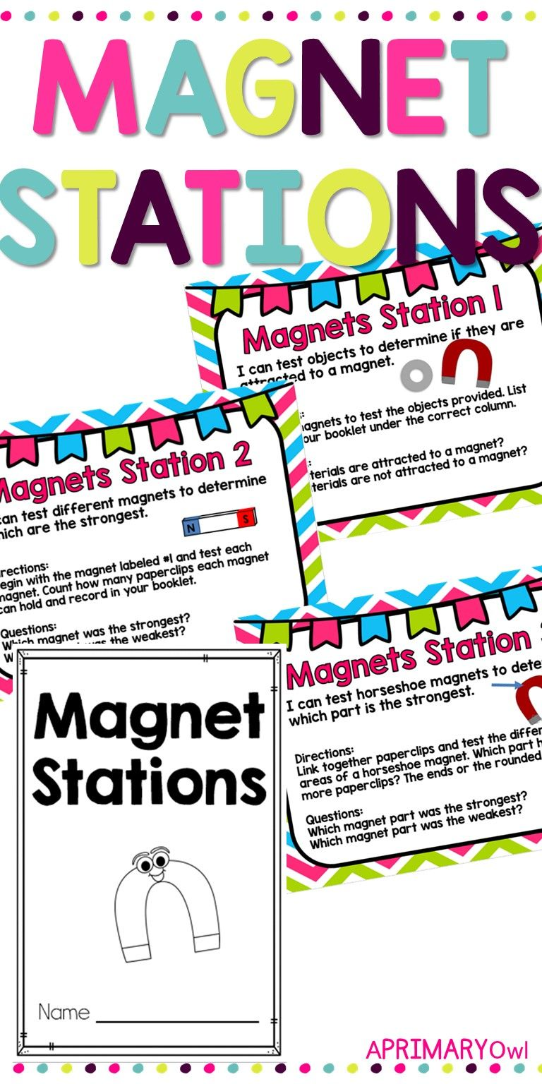 Magnets Stations | Magnets | Magnets, I can statements